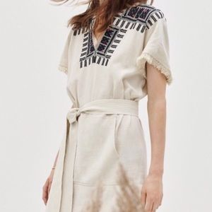 MADEWELL linen tribal dress